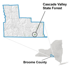 Cascade Valley State Forest locator map