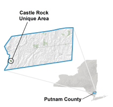 Castle Rock Unique Area locator map