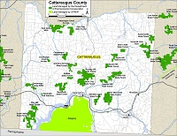 small map of Cattaraugus County