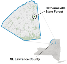 Catherineville State Forest Locator Map