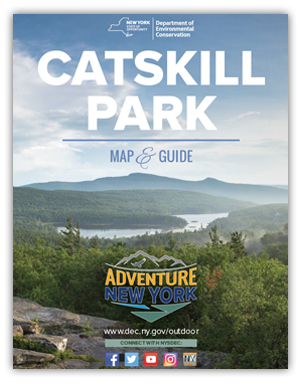 cover of Catskill Park Map and Guide showing Catskill Mountains
