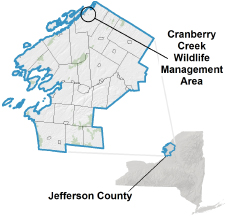 Cranberry Creek WMA locator map