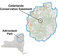 Cedarlands Conservation Easement locator map