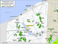 small map of Chautauqua County