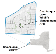 Chautauqua Lake WMA locator map
