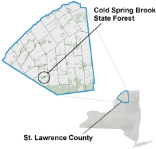 Cold Spring Brook State Forest locator map