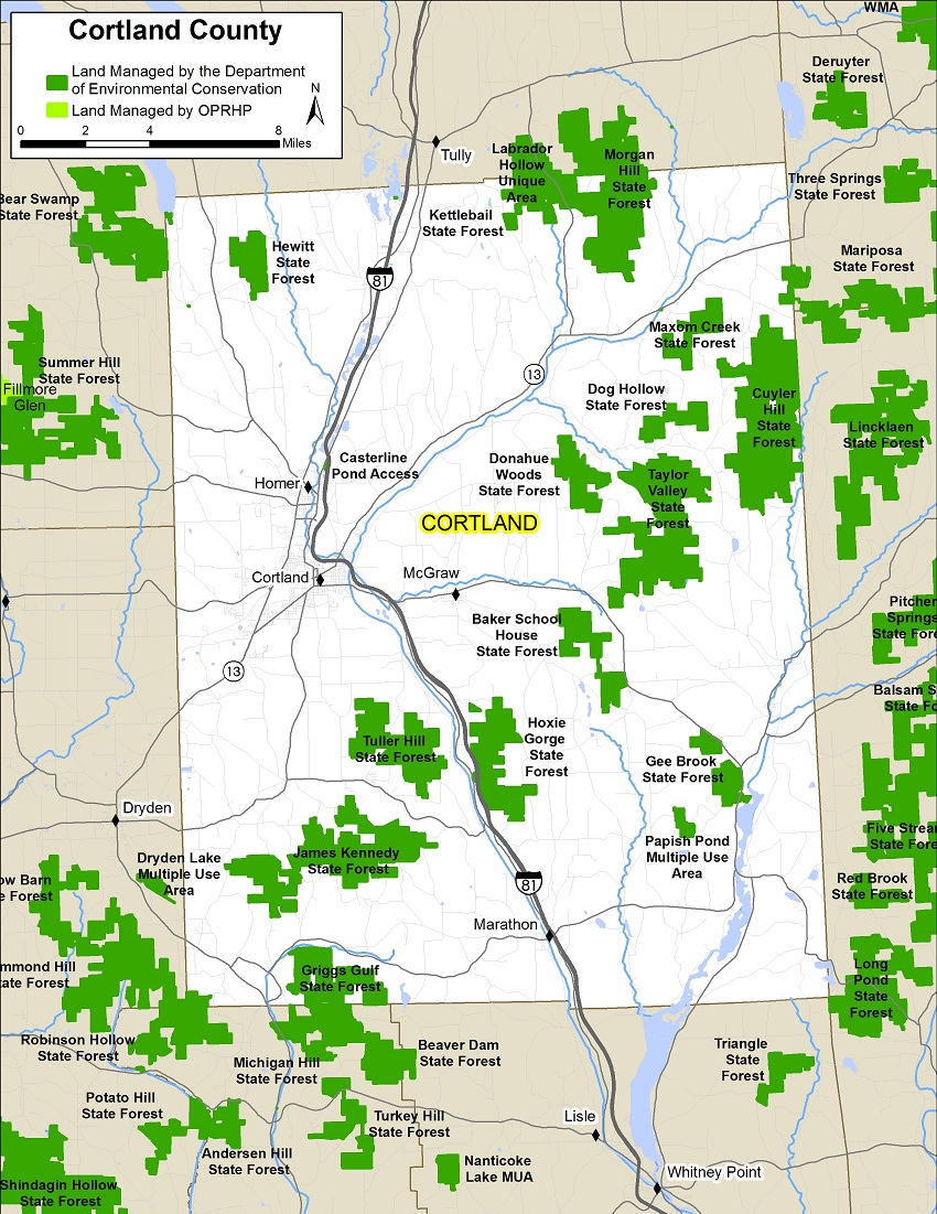 Cortland County Map NYS Dept Of Environmental Conservation - Nys county map