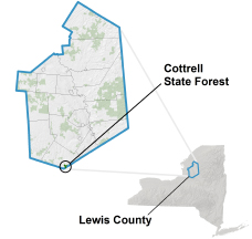 Cottrell State Forest locator map