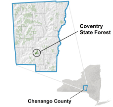 Coventry State Forest locator map