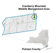 Cranberry Mountain locator map