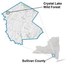 Crystal Lake Wild Forest locator map