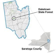 Daketown State Forest locator map