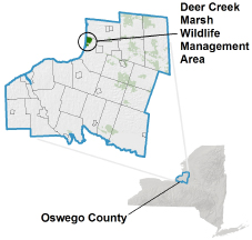 Deer Creek Marsh WMA locator map