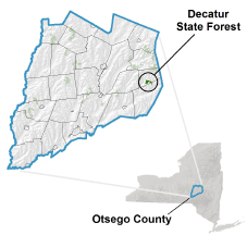 Decatur State Forest locator map