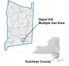Depot Hill Multiple Use Area locator map