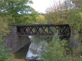 Bridge in Deruyter State Forest