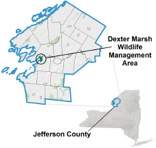Dexter Marsh WMA locator map
