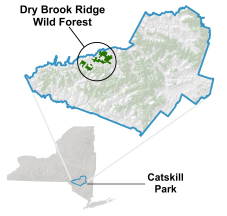 Dry Brook Ridge Wild Forest locator map
