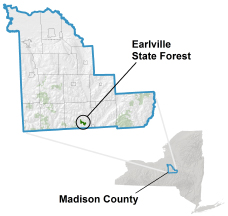Earlville State Forest locator map
