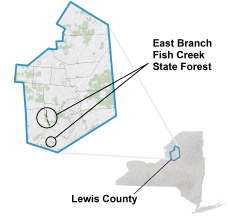 East Branch Fish Creek State Forest locator map