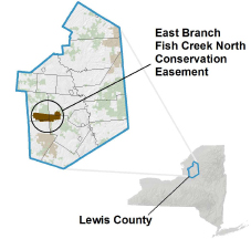 East Branch Fish Creek CE Locator Map