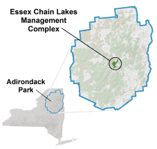 Map of Adirondack Park and Essex Chain Tract
