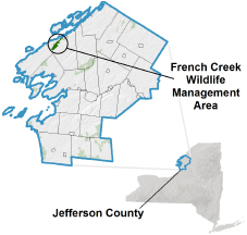 French Creek WMA locator map