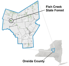 Fish Creek State Forest locator map