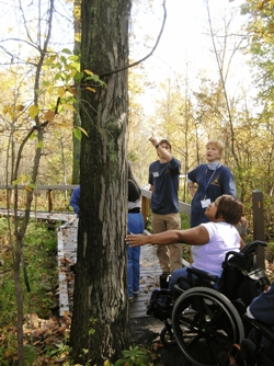 Photo of Nature Observers on a Wheelchair Accessible Boardwalk