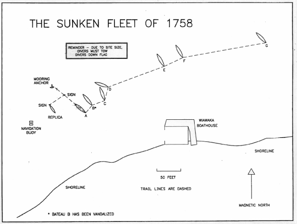 The Sunken Fleet of 1758 Site Map