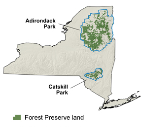 Location of New York's Forest Preserve