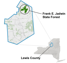 Frank Jadwin State Forest locator map