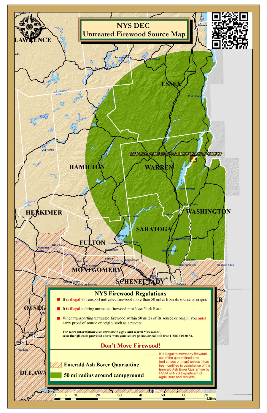 Lake George Islands Firewood Map - Narrow Island Group - NYS Dept ...