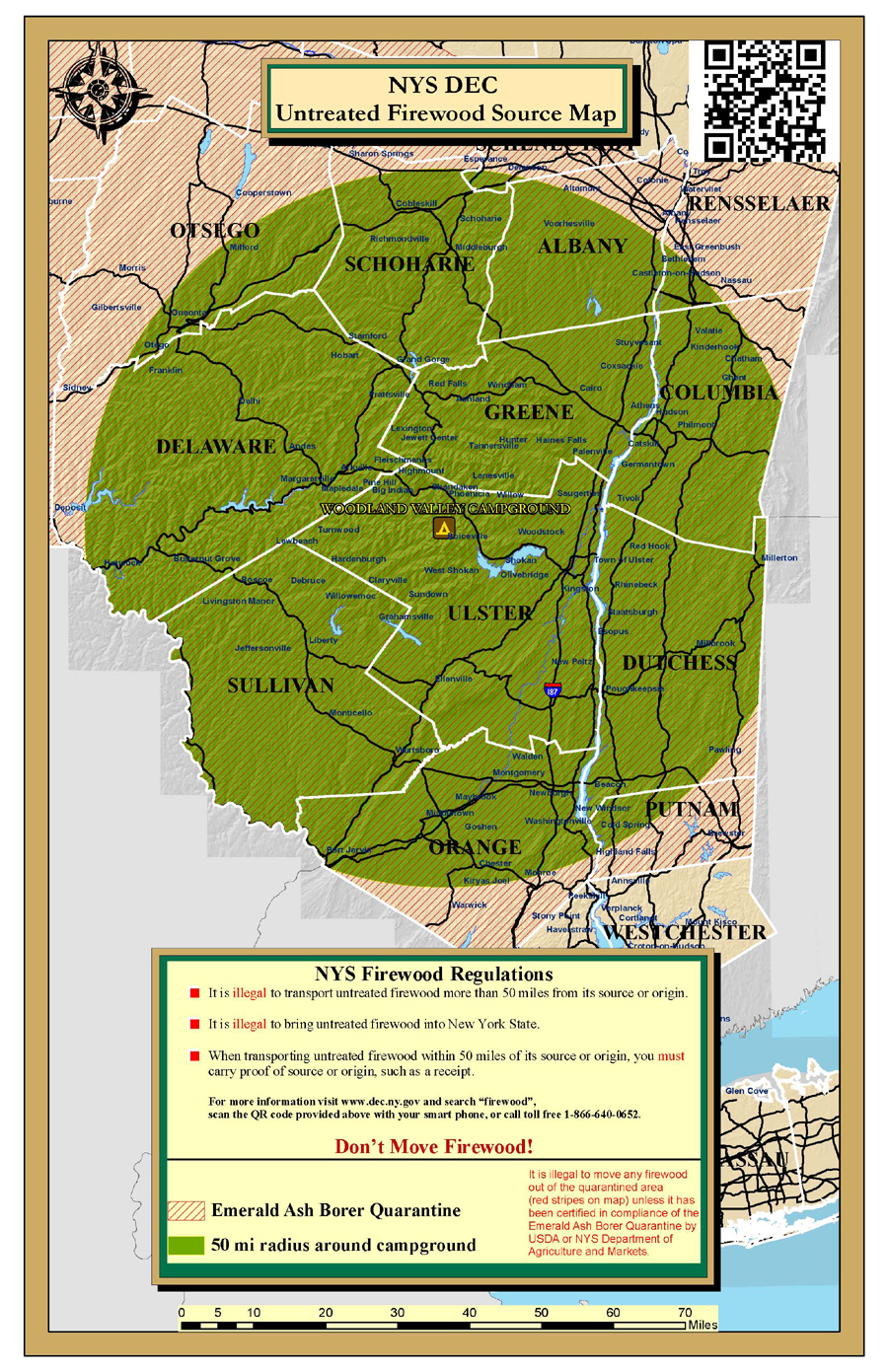 Woodland Valley Firewood Map NYS Dept of Environmental Conservation