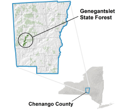 Genegantslet State Forest locator map