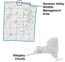 Genesee Valley WMA locator map