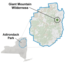 Giant Mountain Wilderness Locator Map