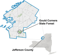 Gould Corners State Forest locator map