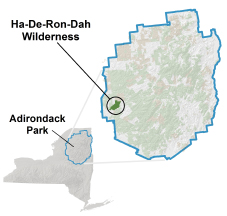 Location Map for Ha-De-Ron-Dah Wilderness