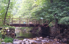 The bridge at Hague Brook