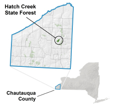 Hatch Creek State Forest locator map