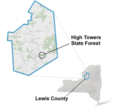 High Towers State Forest locator map