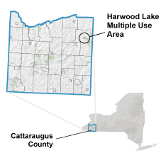 Harwood Lake MUA locator map