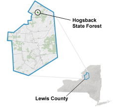 Hogsback State Forest locator map