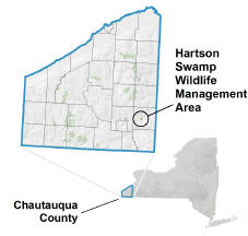 Hartson Swamp WMA locator map