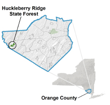 Hucleberry Ridge State Forest locator map