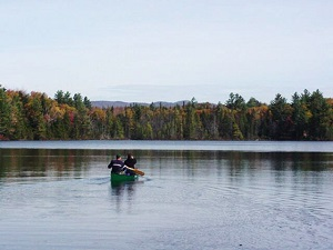 A canoe on Long Pond