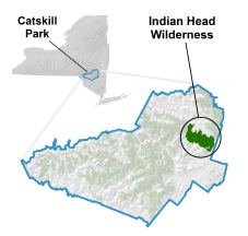 Indian Head Wilderness Locator Map
