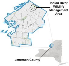 Indian River WMA locator map