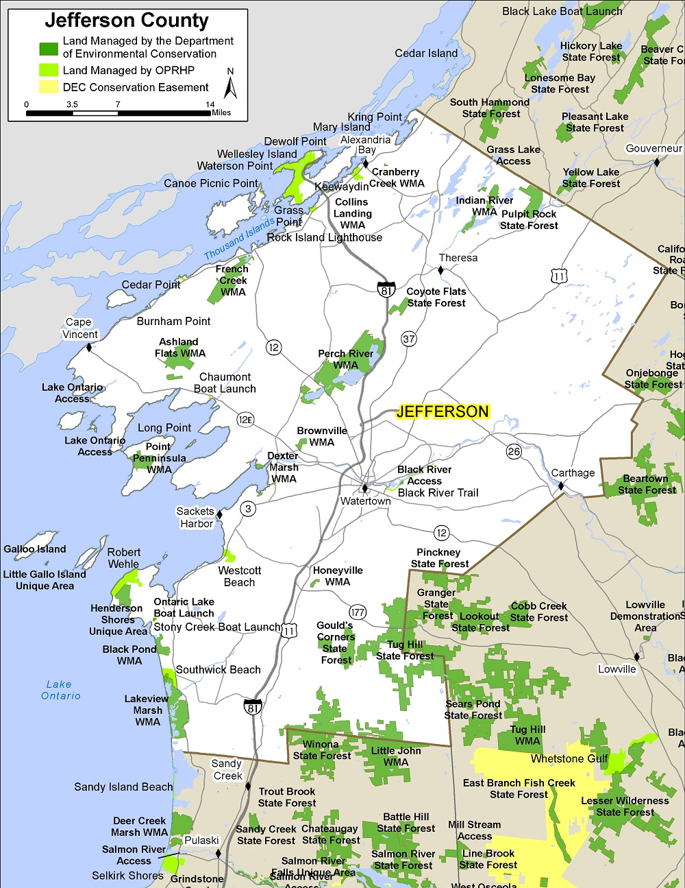 jefferson county map. jefferson county map  nys dept of environmental conservation